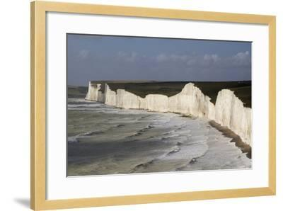 Seven Sisters from Birling Gap, South Downs National Park, East Sussex, England, United Kingdom-Rolf Richardson-Framed Photographic Print