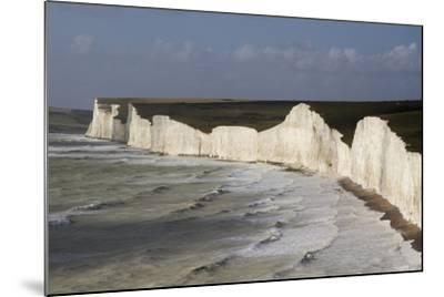 Seven Sisters from Birling Gap, South Downs National Park, East Sussex, England, United Kingdom-Rolf Richardson-Mounted Photographic Print