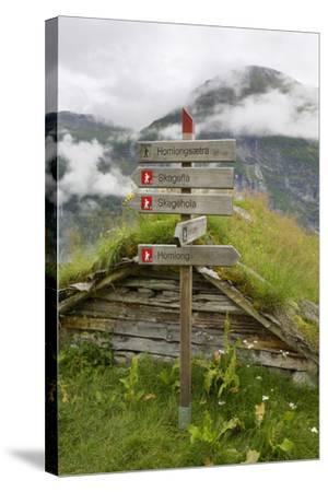 Homlongsaetra Mountain Farm, Geirangerfjorden Near Geiranger, UNESCO Site, More Og Romsdal, Norway-Gary Cook-Stretched Canvas Print