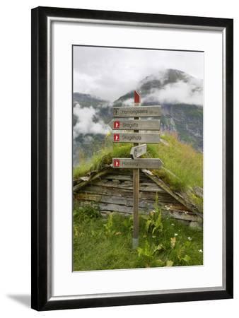 Homlongsaetra Mountain Farm, Geirangerfjorden Near Geiranger, UNESCO Site, More Og Romsdal, Norway-Gary Cook-Framed Photographic Print