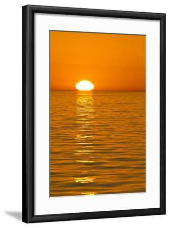 Sunrise, Gulf of California (Sea of Cortez), Baja California, Mexico, North America-Michael Nolan-Framed Photographic Print