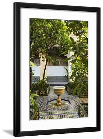 Fountain, Palais de la Bahia, Medina, Marrakesh, Morocco, North Africa, Africa-Jochen Schlenker-Framed Photographic Print