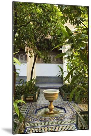 Fountain, Palais de la Bahia, Medina, Marrakesh, Morocco, North Africa, Africa-Jochen Schlenker-Mounted Photographic Print