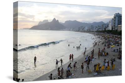 Ipanema Beach, Rio de Janeiro, Brazil, South America-Yadid Levy-Stretched Canvas Print