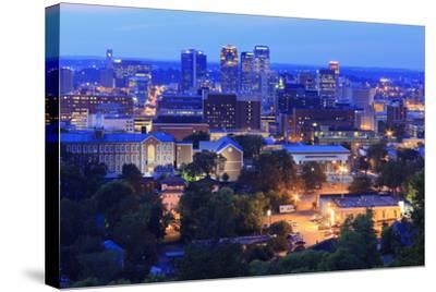 Birmingham Skyline at Twilight, Birmingham, Alabama, United States of America, North America-Richard Cummins-Stretched Canvas Print