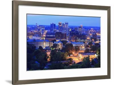 Birmingham Skyline at Twilight, Birmingham, Alabama, United States of America, North America-Richard Cummins-Framed Photographic Print