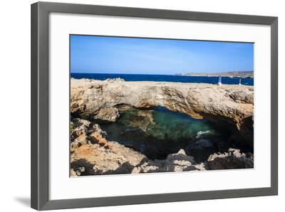 Natural Bridge, Aruba, ABC Islands, Netherland Antilles, Caribbean, Central America-Michael Runkel-Framed Photographic Print