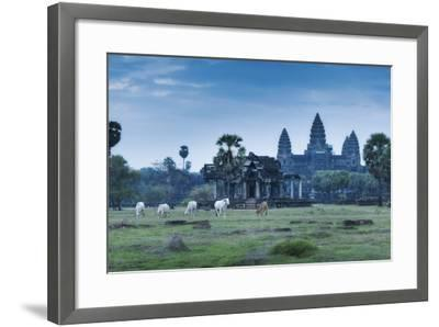 Temple Complex of Angkor Wat, Angkor, UNESCO World Heritage Site, Siem Reap, Cambodia, Indochina-Andrew Stewart-Framed Photographic Print