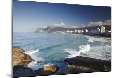 Ipanema Beach from Ponta do Aproador, Rio de Janeiro, Brazil, South America-Ian Trower-Mounted Photographic Print