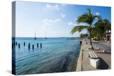 Pier in Kralendijk Capital of Bonaire, ABC Islands, Netherlands Antilles, Caribbean-Michael Runkel-Stretched Canvas Print