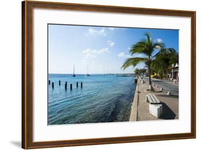 Pier in Kralendijk Capital of Bonaire, ABC Islands, Netherlands Antilles, Caribbean-Michael Runkel-Framed Photographic Print