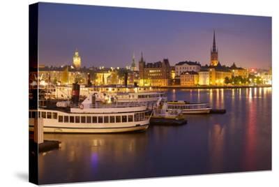 City Skyline from City Hall at Dusk, Kungsholmen, Stockholm, Sweden, Scandinavia, Europe-Frank Fell-Stretched Canvas Print