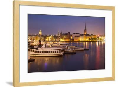 City Skyline from City Hall at Dusk, Kungsholmen, Stockholm, Sweden, Scandinavia, Europe-Frank Fell-Framed Photographic Print