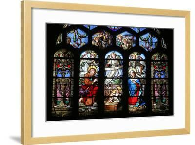 Stained Glass Window Depicting the Nativity, St. Eustache Church, Paris, France, Europe-Godong-Framed Photographic Print