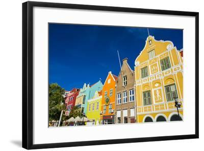 The Colourful Dutch Houses at Sint Annabaai, UNESCO Site, Curacao, ABC Island, Netherlands Antilles-Michael Runkel-Framed Photographic Print