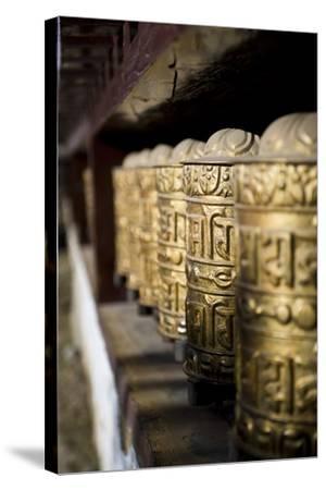 Buddhist Prayer Wheels, Namche Gompa (Monastery), Namche Bazaar, Solu Khumbu Region, Nepal-Ben Pipe-Stretched Canvas Print