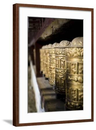Buddhist Prayer Wheels, Namche Gompa (Monastery), Namche Bazaar, Solu Khumbu Region, Nepal-Ben Pipe-Framed Photographic Print