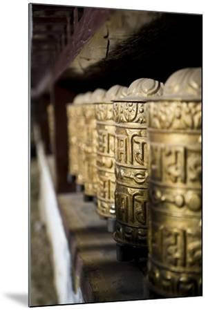 Buddhist Prayer Wheels, Namche Gompa (Monastery), Namche Bazaar, Solu Khumbu Region, Nepal-Ben Pipe-Mounted Photographic Print