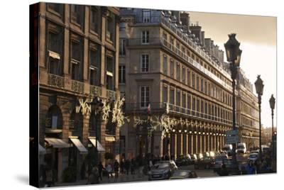 Sunset on Rue de la Paix, Paris, France, Europe-Matthew Frost-Stretched Canvas Print