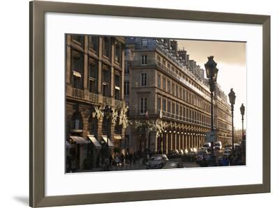 Sunset on Rue de la Paix, Paris, France, Europe-Matthew Frost-Framed Photographic Print