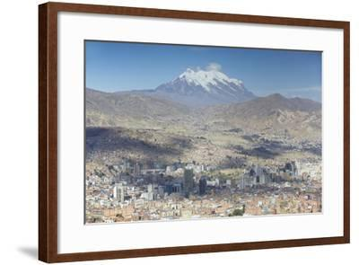 View of Mount Illamani and La Paz, Bolivia, South America-Ian Trower-Framed Photographic Print