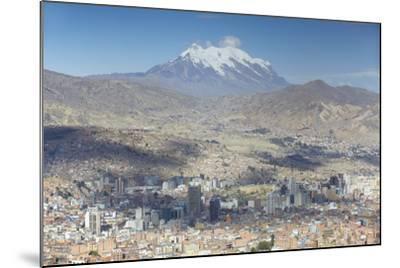 View of Mount Illamani and La Paz, Bolivia, South America-Ian Trower-Mounted Photographic Print