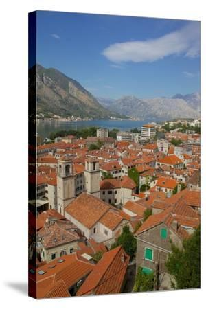 View over Old Town, Kotor, UNESCO World Heritage Site, Montenegro, Europe-Frank Fell-Stretched Canvas Print
