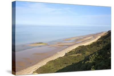 Quiet Beach Between Cromer and Overstrand, Norfolk, England, United Kingdom, Europe-Mark Sunderland-Stretched Canvas Print