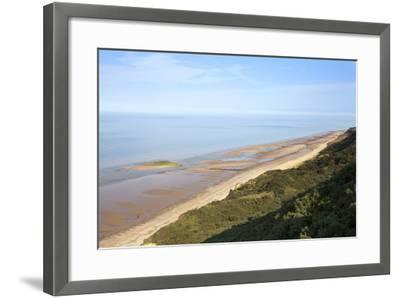 Quiet Beach Between Cromer and Overstrand, Norfolk, England, United Kingdom, Europe-Mark Sunderland-Framed Photographic Print