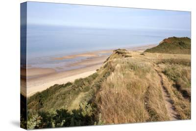 Cliff Path from Cromer to Overstran, Norfolk, England, United Kingdom, Europe-Mark Sunderland-Stretched Canvas Print