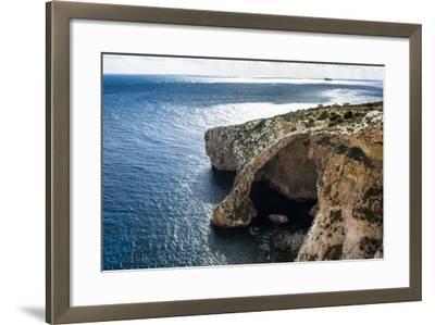 The Landscape around the Blue Grotto, Malta, Mediterranean, Europe-Michael Runkel-Framed Photographic Print