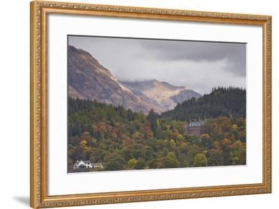 Houses Dotted on the Mountain Side in Glencoe, Highlands, Scotland, United Kingdom, Europe-Julian Elliott-Framed Photographic Print