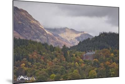 Houses Dotted on the Mountain Side in Glencoe, Highlands, Scotland, United Kingdom, Europe-Julian Elliott-Mounted Photographic Print