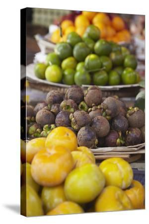 Mangosteens at Market, Phnom Penh, Cambodia, Indochina, Southeast Asia, Asia-Ian Trower-Stretched Canvas Print