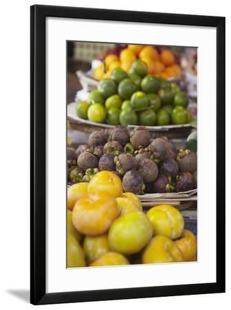 Mangosteens at Market, Phnom Penh, Cambodia, Indochina, Southeast Asia, Asia-Ian Trower-Framed Photographic Print