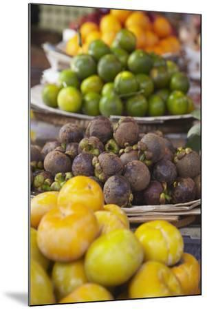 Mangosteens at Market, Phnom Penh, Cambodia, Indochina, Southeast Asia, Asia-Ian Trower-Mounted Photographic Print