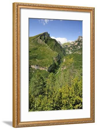 Anisclo Canyon and Eroded Karst Mondoto Peak, Ordesa and Monte Perdido Nat'l Pk, Huesca, Spain-Nick Upton-Framed Photographic Print