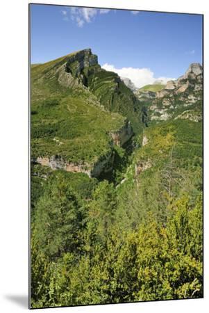 Anisclo Canyon and Eroded Karst Mondoto Peak, Ordesa and Monte Perdido Nat'l Pk, Huesca, Spain-Nick Upton-Mounted Photographic Print
