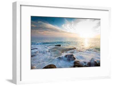 Laguna Beach Shore Break and Waves-Ben Horton-Framed Photographic Print