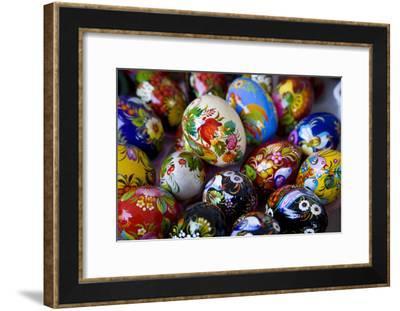 The Art of Painted Ukrainian Easter Eggs at a Flower Festival-Stephen St^ John-Framed Photographic Print