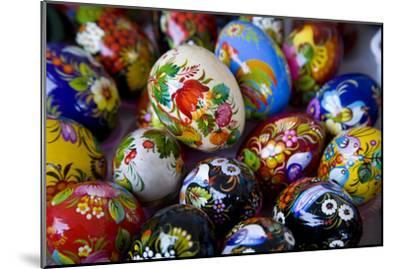 The Art of Painted Ukrainian Easter Eggs at a Flower Festival-Stephen St^ John-Mounted Photographic Print