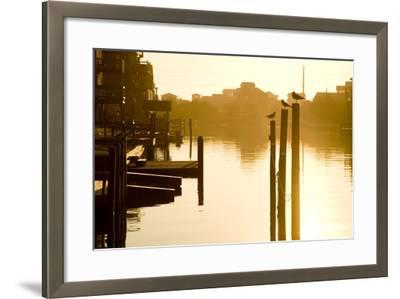 Sunrise Along the Channels Lined with Vacation Houses-Stephen St^ John-Framed Photographic Print