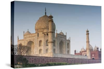 The Taj Mahal Seen from the Banks of the Yamuna River-Jonathan Irish-Stretched Canvas Print