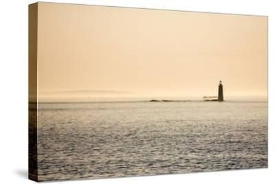 A Lighthouse Off the Shore of Cape Elizabeth, Maine-Jonathan Irish-Stretched Canvas Print