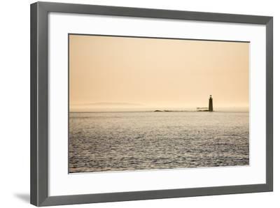 A Lighthouse Off the Shore of Cape Elizabeth, Maine-Jonathan Irish-Framed Photographic Print