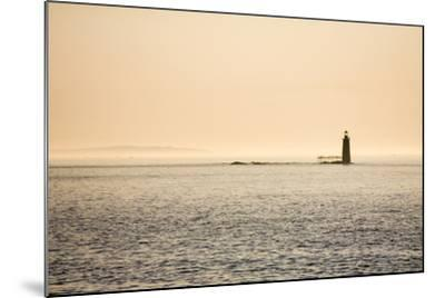 A Lighthouse Off the Shore of Cape Elizabeth, Maine-Jonathan Irish-Mounted Photographic Print