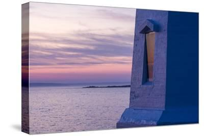 Part of Peggy's Point Lighthouse and Atlantic Ocean at Twilight-Jonathan Irish-Stretched Canvas Print