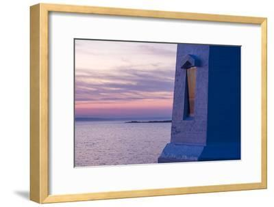 Part of Peggy's Point Lighthouse and Atlantic Ocean at Twilight-Jonathan Irish-Framed Photographic Print