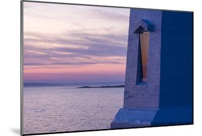 Part of Peggy's Point Lighthouse and Atlantic Ocean at Twilight-Jonathan Irish-Mounted Photographic Print