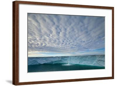 Summer Meltwater Forms Waterfalls on an Icecap-Ralph Lee Hopkins-Framed Photographic Print